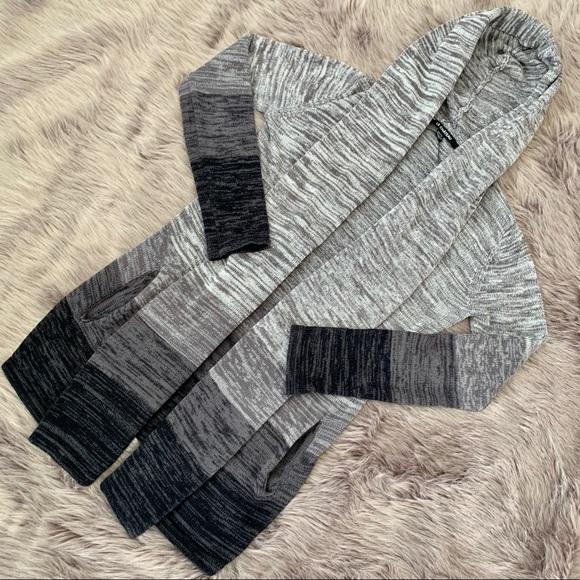 LE CHATEAU | Grey Gradient Open Front Cardigan